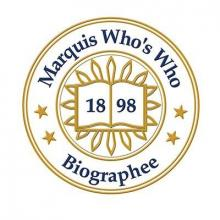 Marquis Who's Who Biographee badge